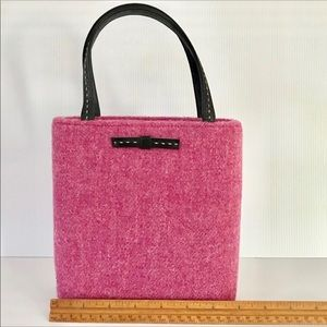 Vintage Rare Kate Spade Pink Tweed Purse Handbag